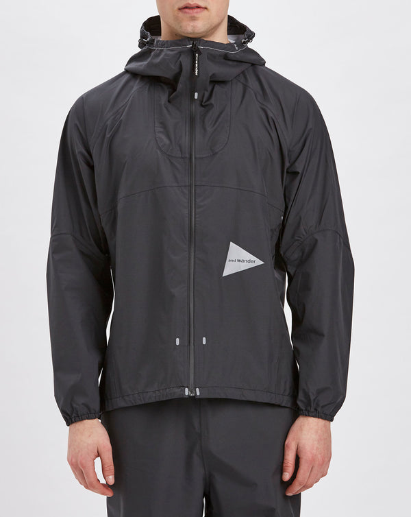 and Wander 3L Light Rain Jacket (Charcoal)