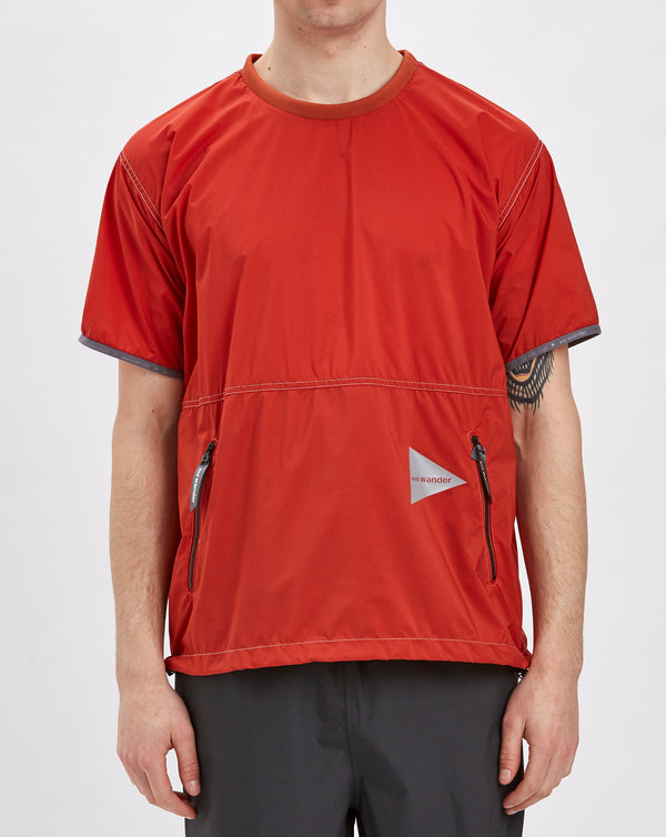 and Wander Pertex Wind T-shirt (Orange)