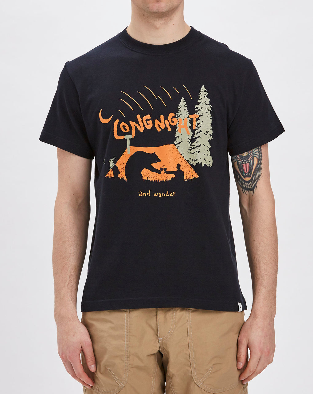 and Wander Long Night T-shirt (Navy)
