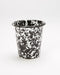 Crow Canyon Splatter Enamel Short Tumbler (Black/White)