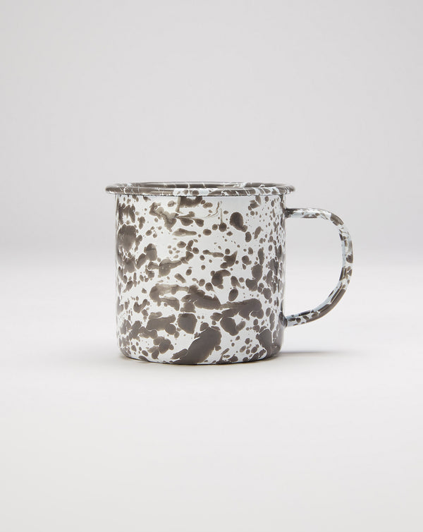 Crow Canyon Splatter Enamel Mug (Grey/White)