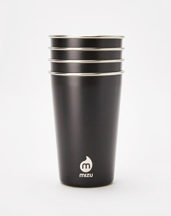 Mizu Party Cup 4 Pack (Enduro Black)