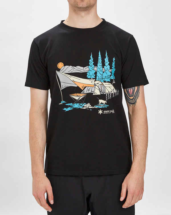Snow Peak Entry Camping T-shirt (Black)