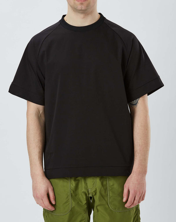 and Wander Hybrid Base Layer Short Sleeve Tee (Black)