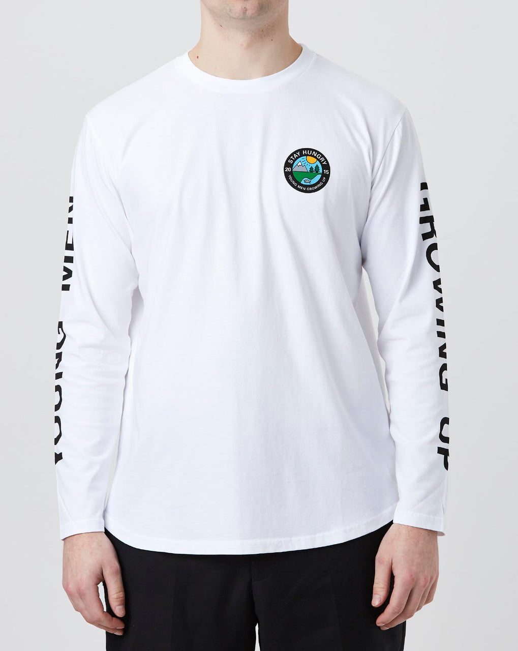 Stay Hungry YMGU® Longsleeve (White)