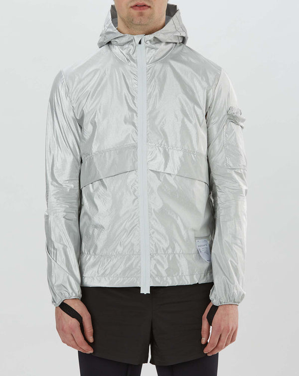 Satisfy Packable Windbreaker (Silver)