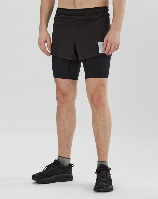 "Satisfy Short Distance 8"" Shorts (Black)"