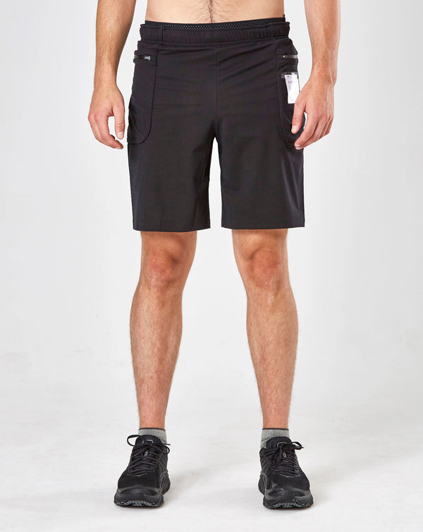 "Satisfy Justice 8"" Merino Shorts (Black)"
