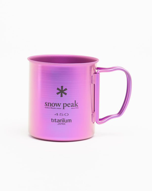 Snow Peak Titanium Single Wall Cup 450 (Purple)