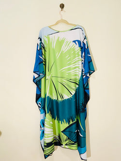"""Tropical"" Long Silk Caftan"
