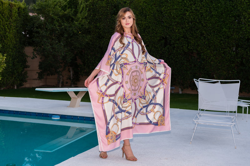 """Antionette"" Long Silk Caftan Available 8-15"