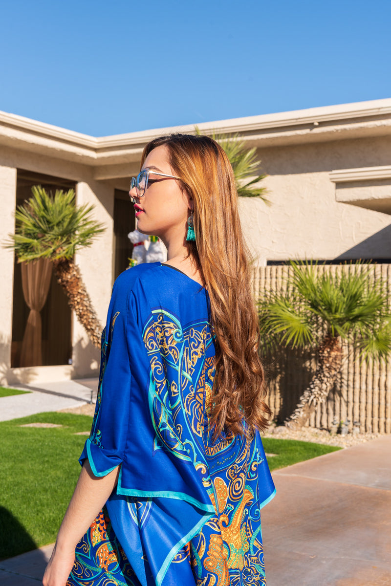 """Mythical Night"" Long Caftan"