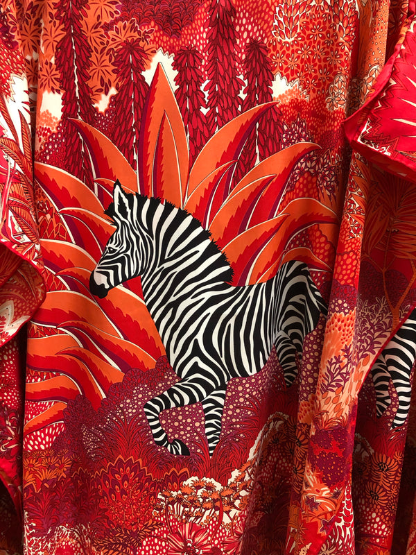 """Mountain Zebra"" Short Caftan 34 inches"