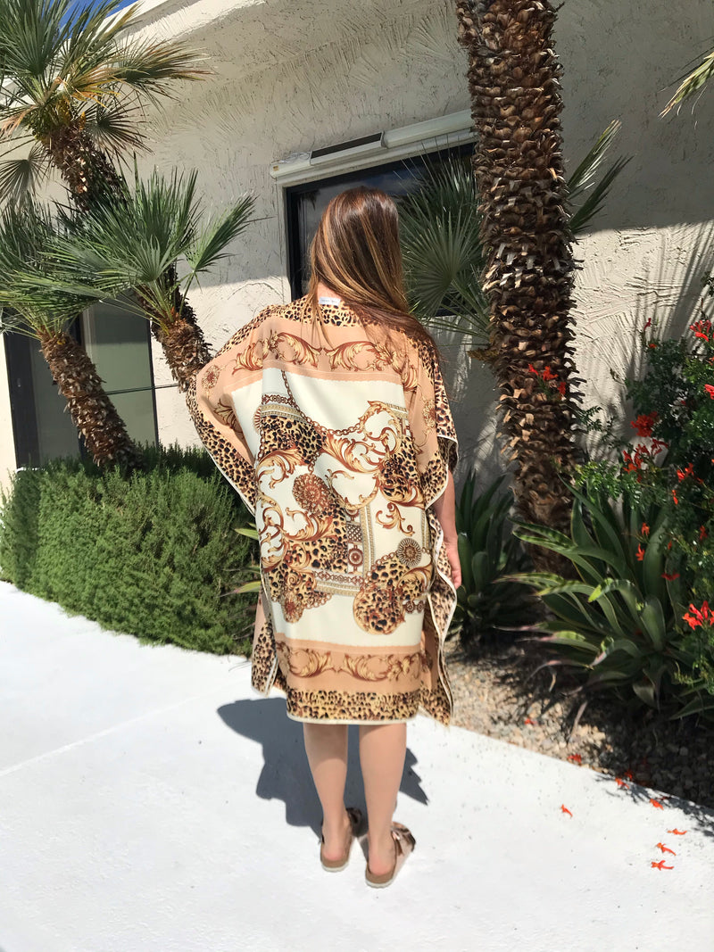 """Very Versace Leopard ""Silk Caftan Available 8-15"