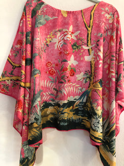 """Chinoiserie ""Silk Tunic Blue or Pink"
