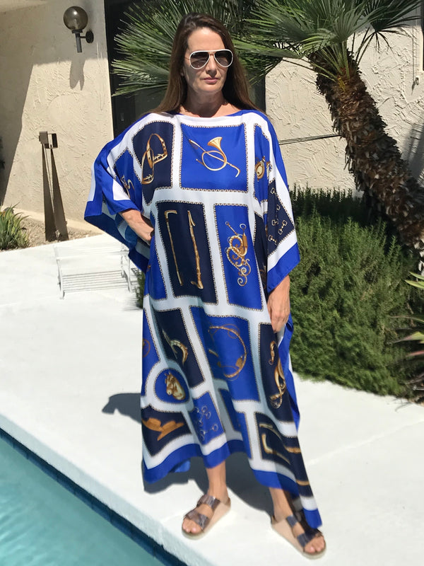 """Horsepower "" Long Silk Caftan"