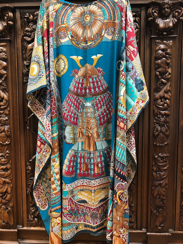 """Samouais Uniform "" Long Silk Caftan"