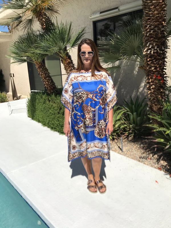 """Very Versace Royal Leopard "" Midi Caftan"