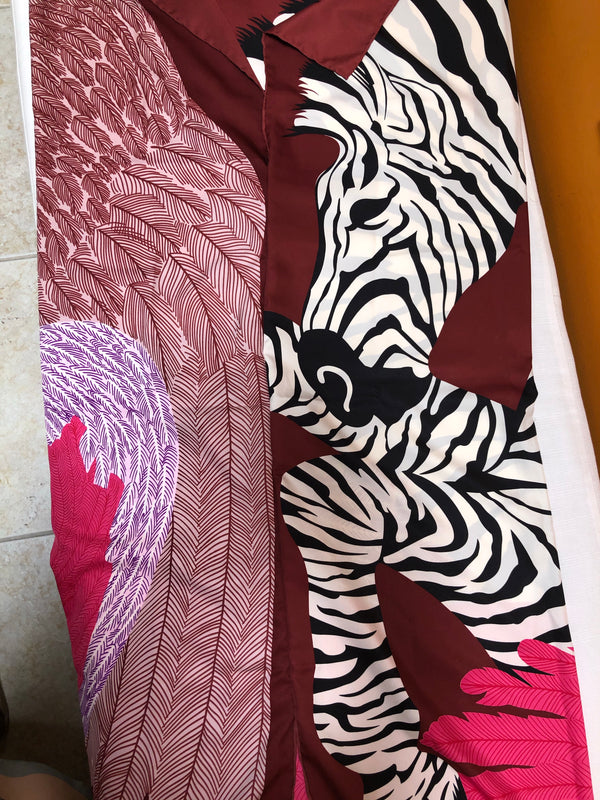 """Abstract Zebra"" Silk Sarong"