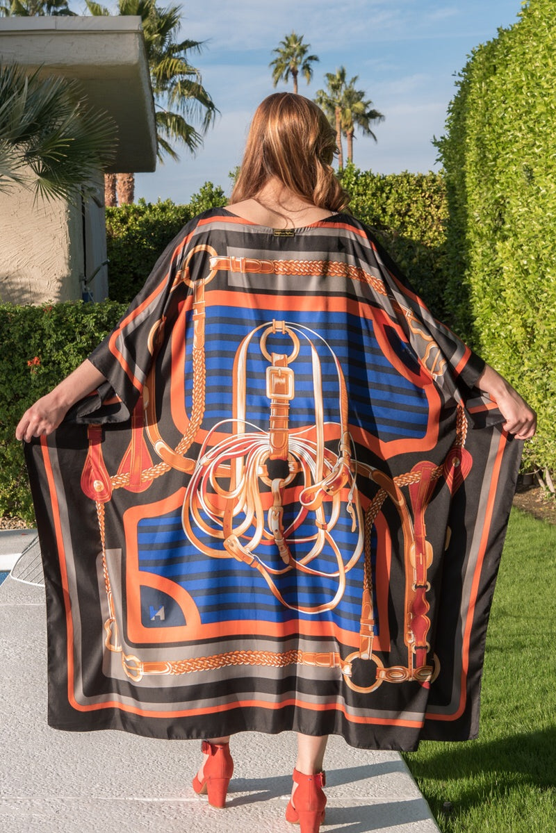 """Royal Buckle"" Long Silk Caftan"