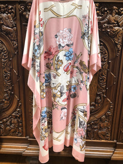 """Blushing"" Silk Long Caftan"