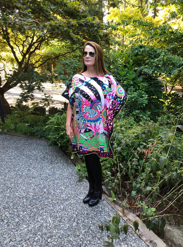 """Magical Pegasus "" Short Caftan"