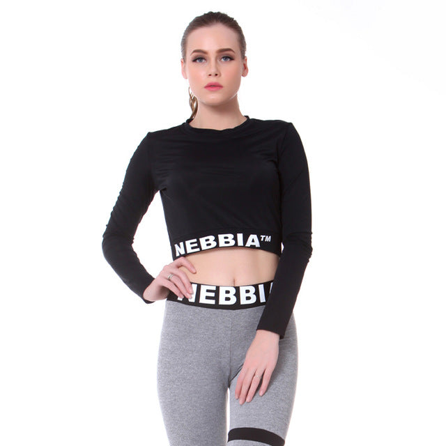a1e77f906e NEBBIA Women Cropped Seamless Long Sleeve Top Sports Wear for Women Gym  Yoga Shirt Thumb Hole Fitted Workout Shirts for Women