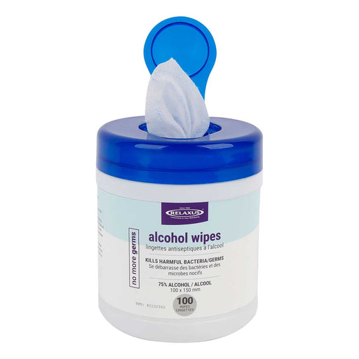 75% Alcohol Wipes Tub (100 Count)