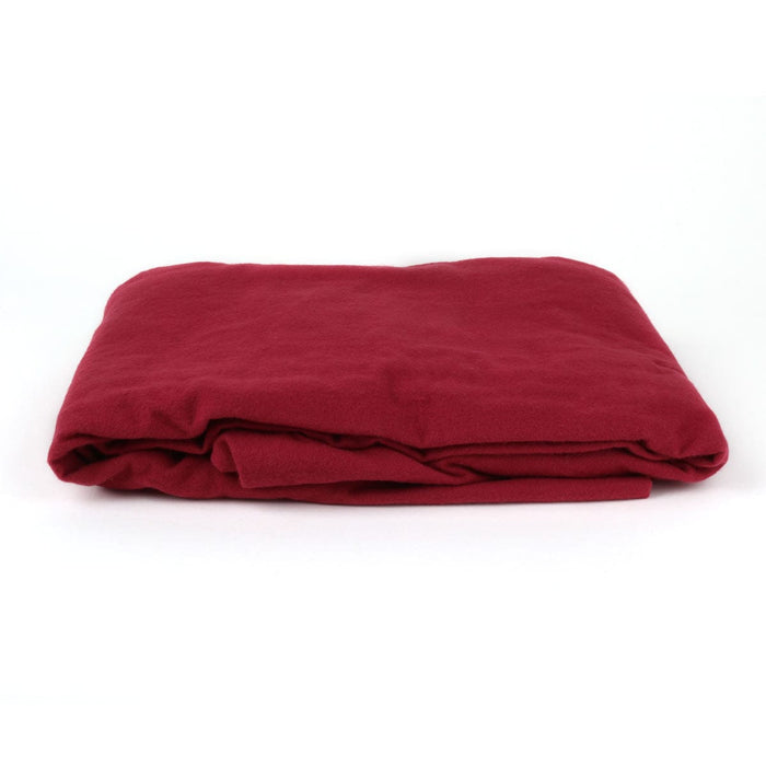 Cotton Flannel Massage Table Fitted Stretch Sheet - Burgundy