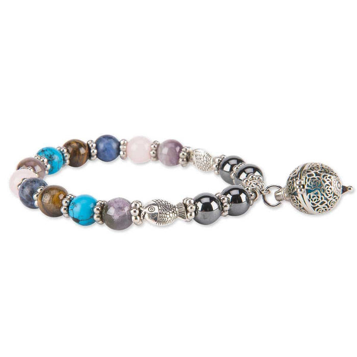 Monaco Earth Bead Magnetic Essential Oil Bracelet