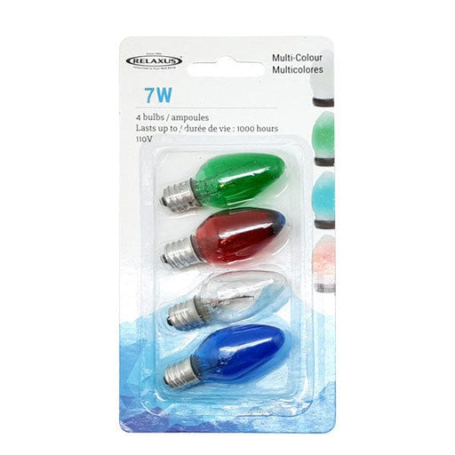 Wholesale 4-Pack Multi-Colour 7 W Light Bulbs - Package of 12