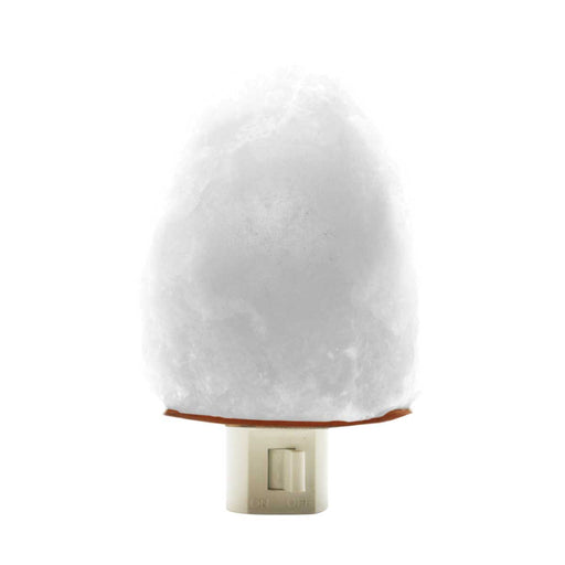 White Himalayan Salt Night Light