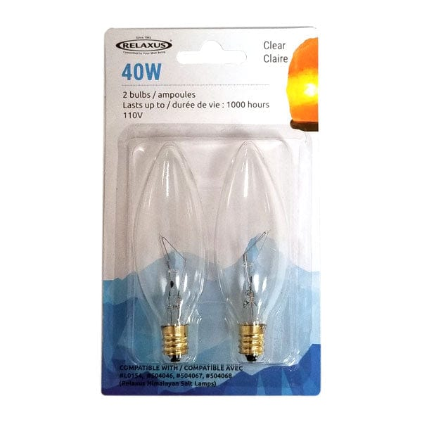 Wholesale 2-Pack Clear 40 W Light Bulbs - Package of 12
