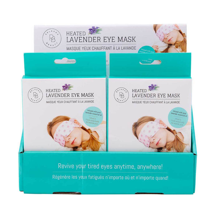 Relaxus Beauty Heated Lavender Eye Mask