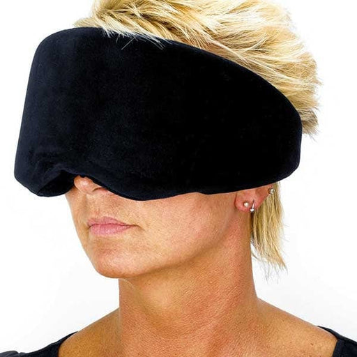 Woman wearing Memory Foam Wrap Around Eye Mask