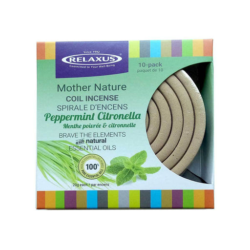 Peppermint Citronella Incense Coil (10 count) Prepack of 12