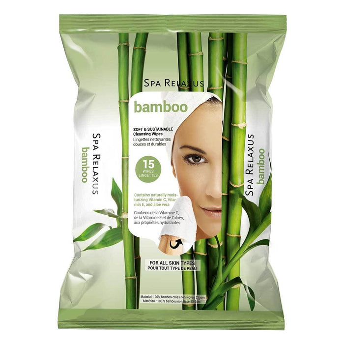 Bamboo Cleansing Wipes Displayer of 12