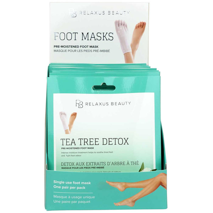 Tea Tree Foot Masks Displayer of 12