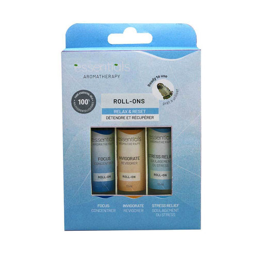 Relax & Reset Essential Oils Roll-On Gift Set (3 x 10 ml) Displayer of 6