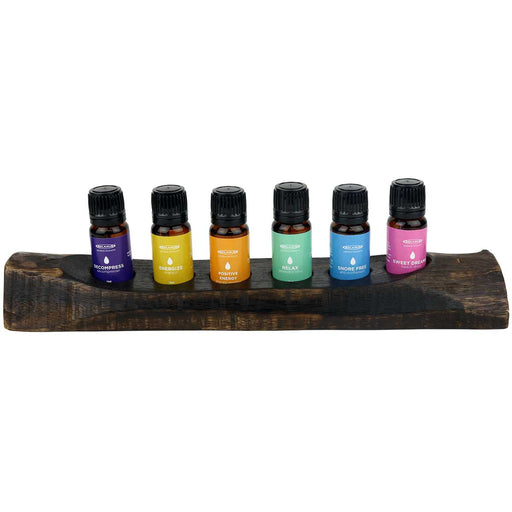 Mix of Six Essential Oil Blends Gift Set (6 x 10 ml Bottles)