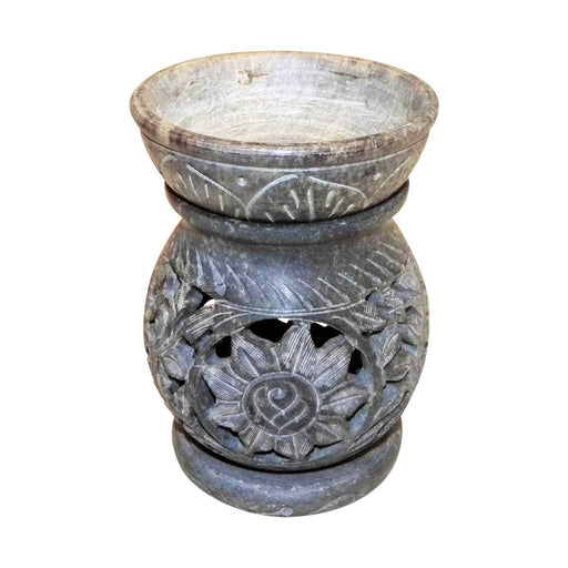 Taj Soapstone Tealight Holder & Oil Burner