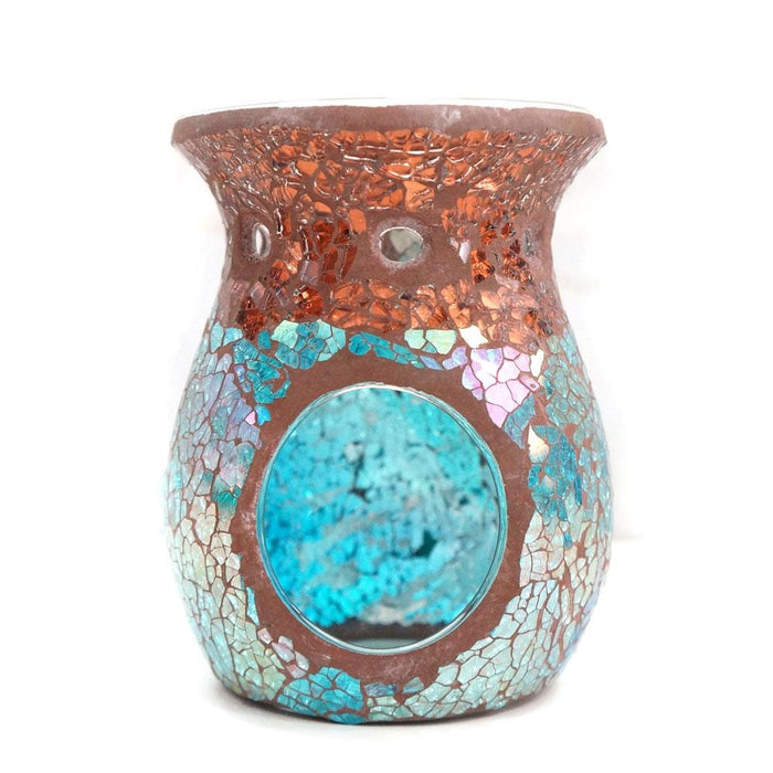 Crackle Blue Venetian Glass Candle Diffuser