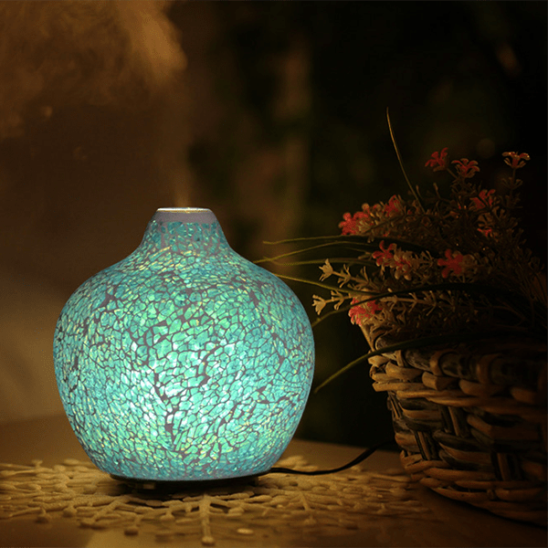 Venetian Ocean Ultrasonic Diffuser on table with mist