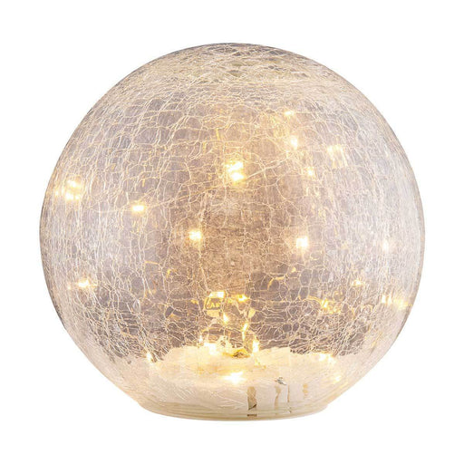 Faerie LED Crackle Glass Globe