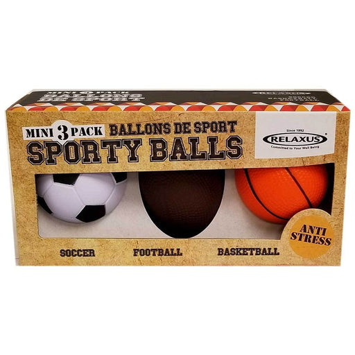 Wholesale Sporty Stress Balls (Boxed Set of 3)