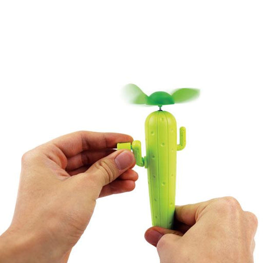 Cactus Wind Up Hand Fan