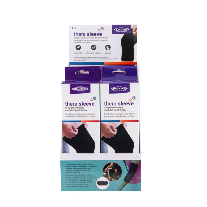 Hot & Cold Gel Knee & Elbow Compression Sleeve Displayer of 6