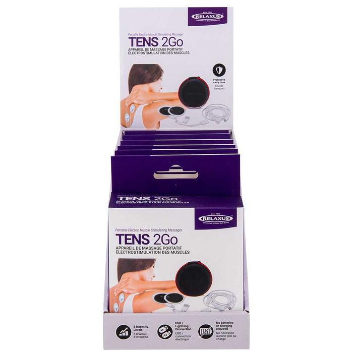 Tens 2Go Portable Electric Muscle Stimulating Massager - Displayer of 6
