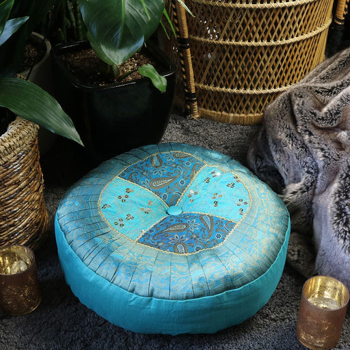 Blue Agra Meditation Cushion Relaxus
