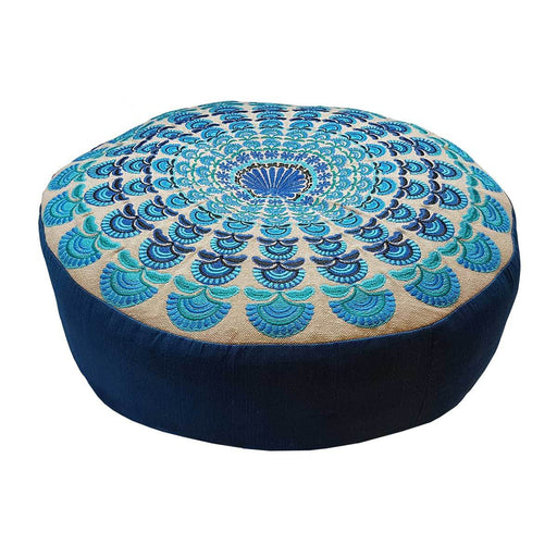 Blue Peacock Meditation Cushion